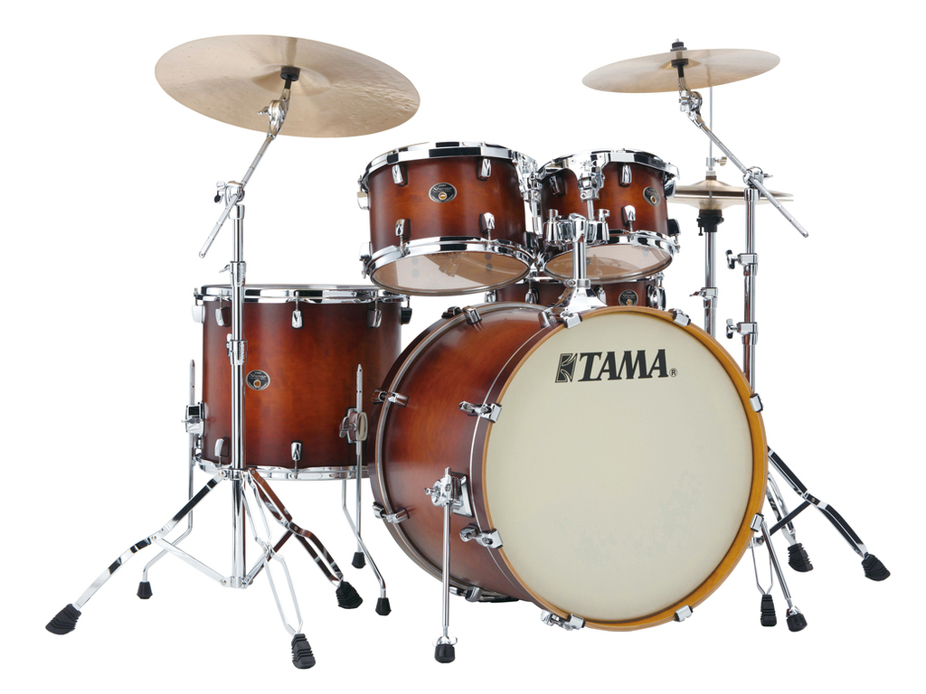 "Shell Set Tama Silverstar VP52KRS-ABR Antique Brown Burst, 22"", 10"", 12"", 16"", 14"", Tom houder MTH905N"