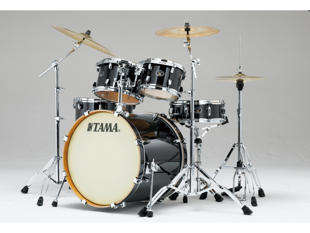 "Shell Set Tama Silverstar VD52KRS-BCB Brushed Charcoal Black, 22"", 10"", 12"", 16"", 14"", Tom houder MTH905N"