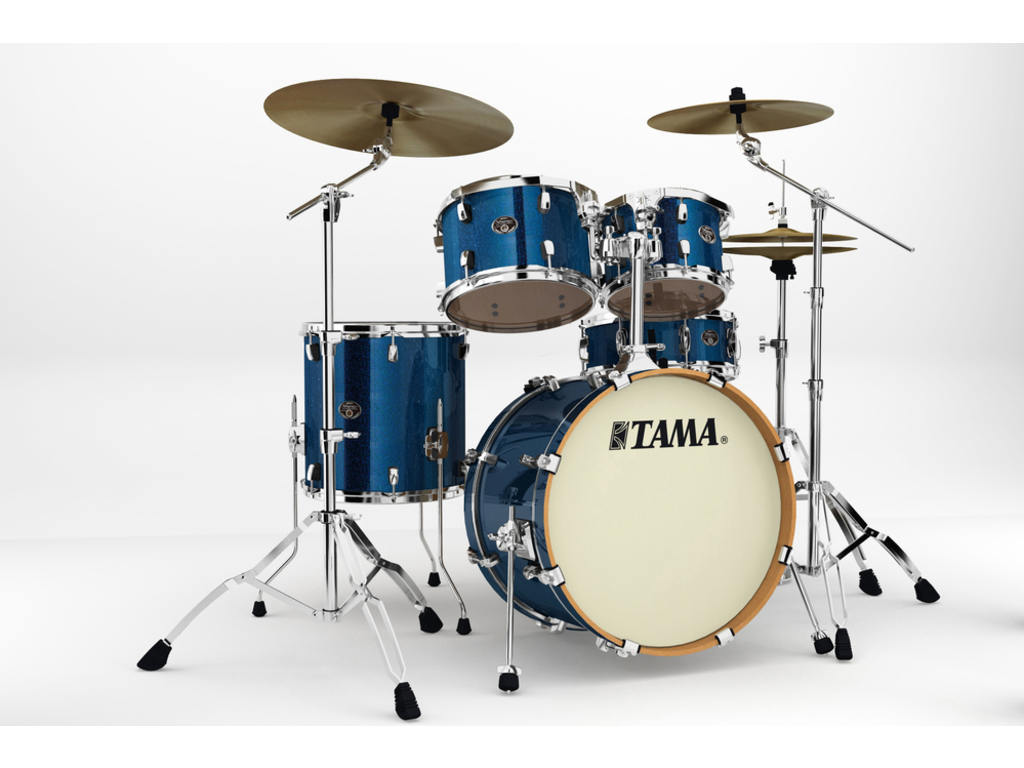 "Shell Set Tama Silverstar VD50RS-ISP Indigo Sparkle, 20"", 10"", 12"", 14"", 14"", Tom houder MTH905N"