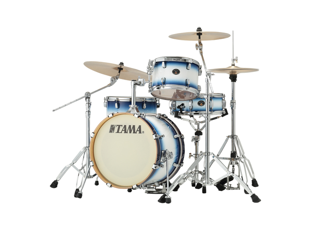 "Shell Set Tama Silverstar VP48S-JTB Jet Blue Burst, 18"", 12"", 14"", 14"", Tom houder MTH900BM"
