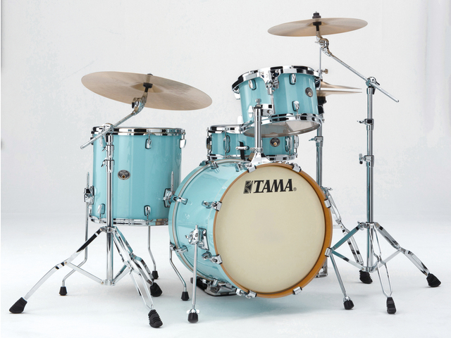"Shell Set Tama Silverstar VP48S-LBL Light Blue Lacquer, 18"", 12"", 14"", 14"", Tom houder MTH900BM"