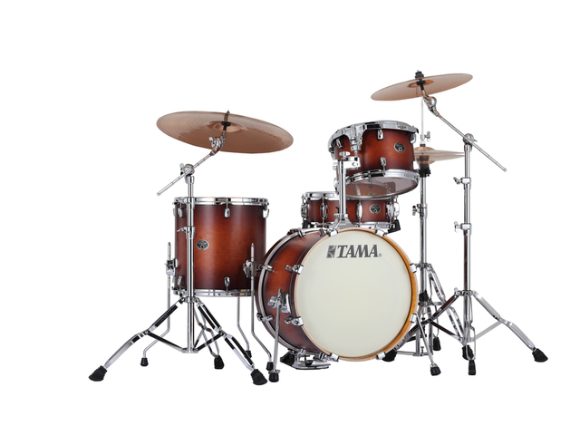"Shell Set Tama Silverstar VP48S-ABR Antique Brown Burst, 18"", 12"", 14"", 14"", Tom houder MTH900BM"