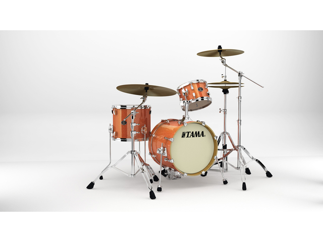 "Shell Set Tama Silverstar VD36MWS-BOS Bright Orange Sparkle, 16"", 10"", 13"", Tom houder MTH900BM"