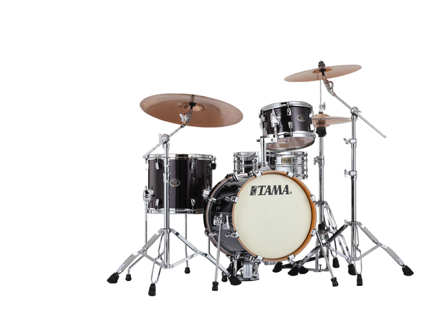 "Shell Set Tama Silverstar VD36MWS-BCB Brushed Charcoal Black, 16"", 10"", 13"", Tom houder MTH900BM"