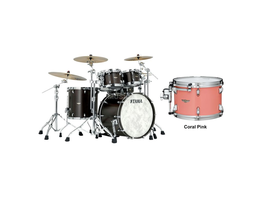 "Shell Set Tama Star Walnut TW42RZS-CRP Coral Pink, 22"", 10"", 12"", 16"""