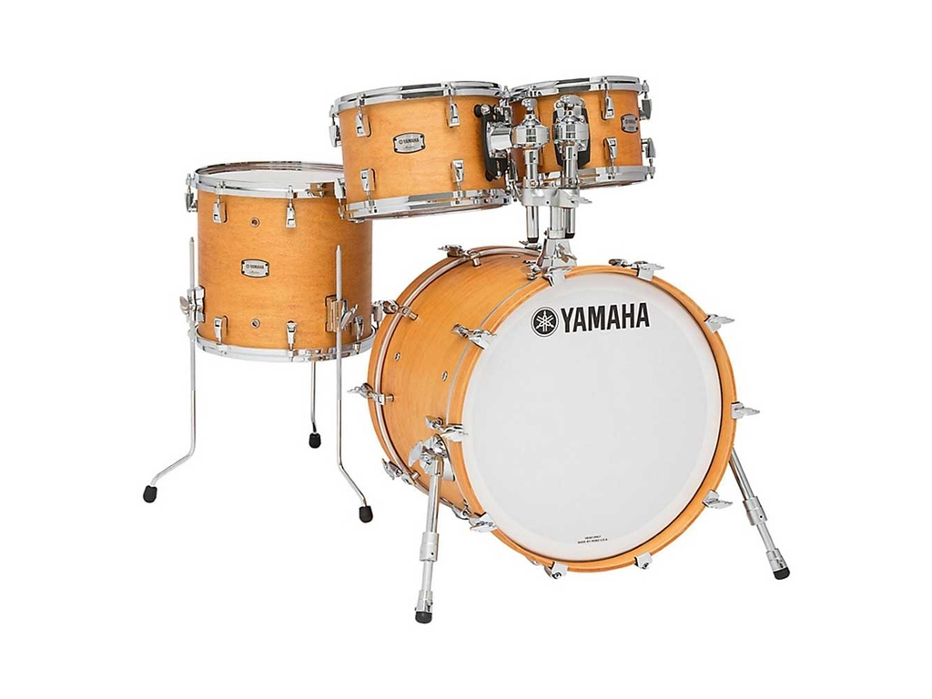 "Shell Set Yamaha Absolute Hybrid Maple JAMFUSIONVN Vintage Natural, 20"", 10"", 12"", 14"""