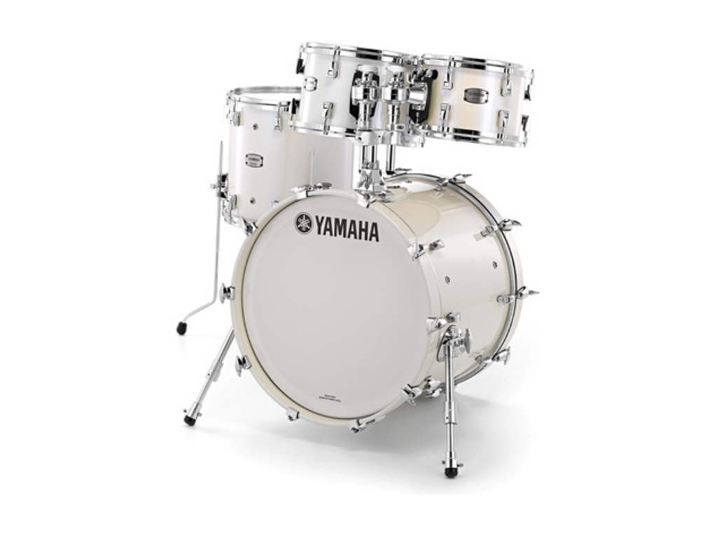"Shell Set Yamaha Absolute Hybrid Maple JAMFUSIONPWH Polar White, 20"", 10"", 12"", 14"""