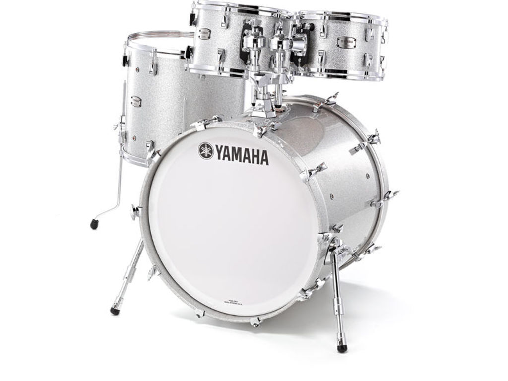 "Shell Set Yamaha Absolute Hybrid Maple JAMJAZZSLS Silver Sparkle, 18"", 10"", 12"", 14"""