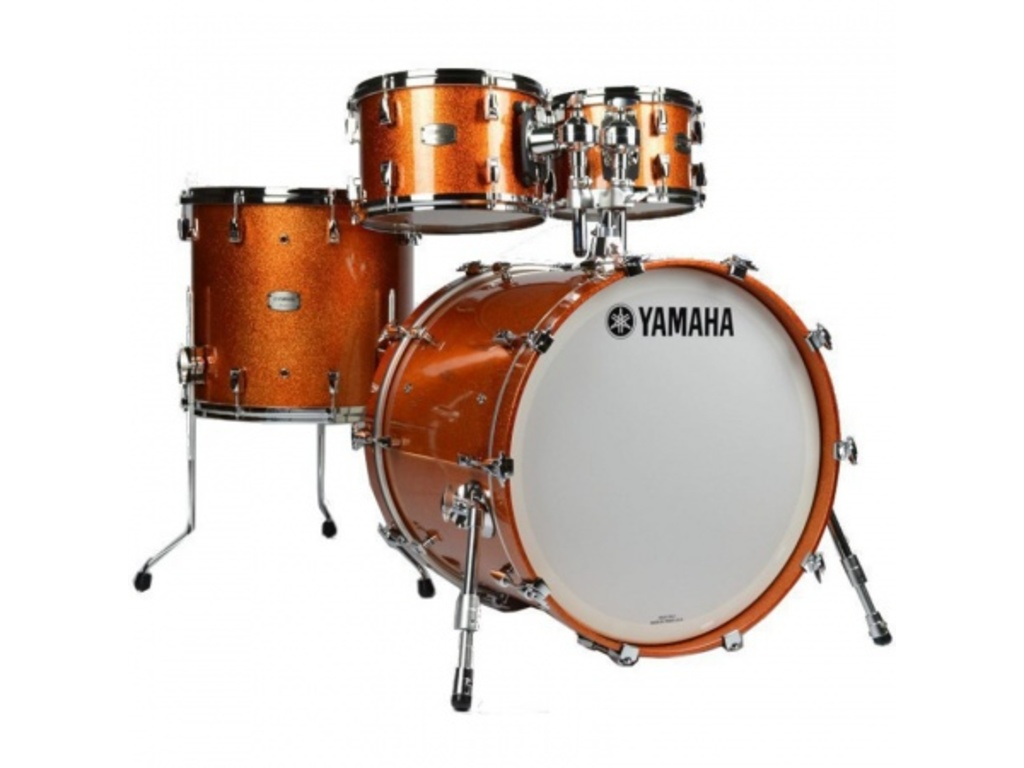 "Shell Set Yamaha Absolute Hybrid Maple JAMJAZZORS Orange Sparkle, 18"", 10"", 12"", 14"""