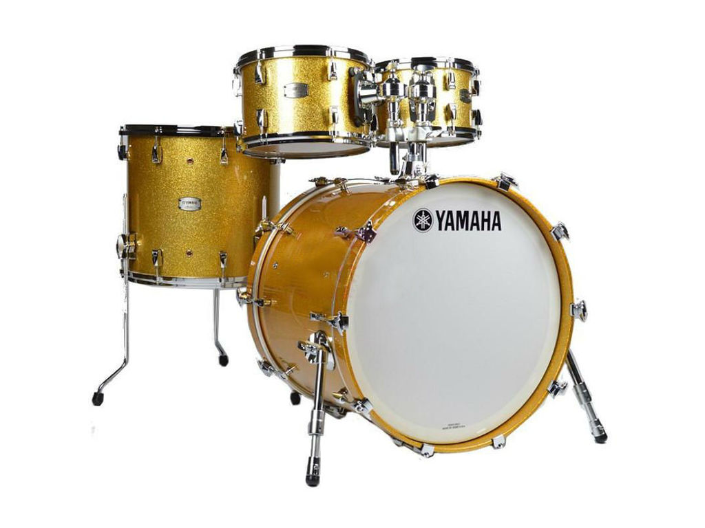 "Shell Set Yamaha Absolute Hybrid Maple JAMJAZZGCS Gold Champagne Sparkle, 18"", 10"", 12"", 14"""