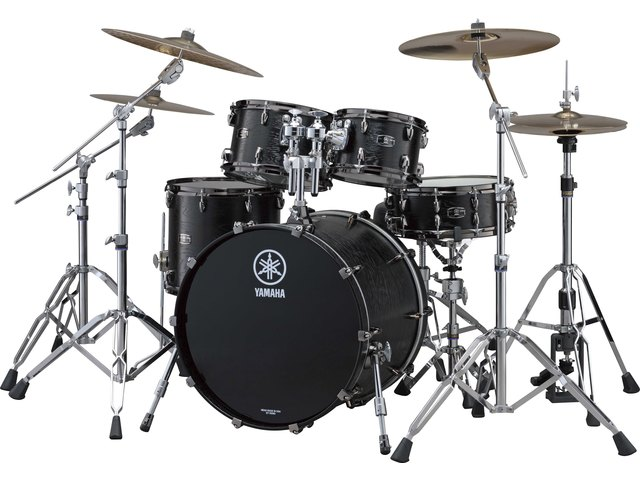"Shell Set Yamaha Live Custom JLCJAZZBKW Black Wood, 18"", 10"", 12"", 14"""