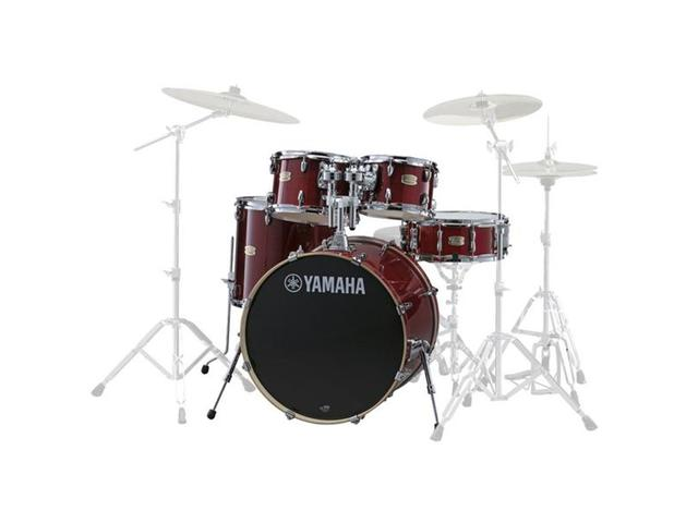"Shell Set Yamaha Stage Custom Birch JSBP0F5CR Cranberry Red, 20"", 10"", 12"", 14"", 14"""