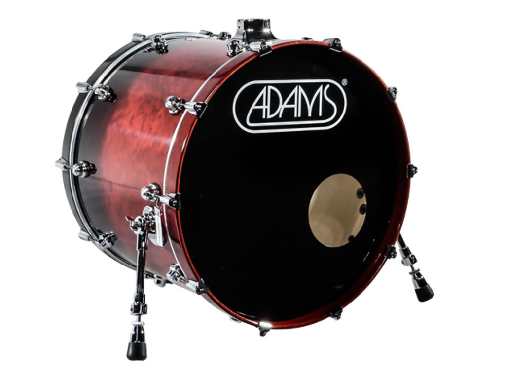 Basdrum Adams 6000 Essential Serie 20x18 Basdrum plywood/berken Chrome hardware  Cranberry Fade