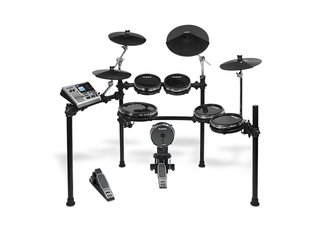 "Elektronisch Drumstel Alesis DM10, Studio Mesh Kit, 4 x 8"" toms, 1 x 10"" snaredrum, 12"" hi-hat, 2 x 12"" crash en 14""  ride"