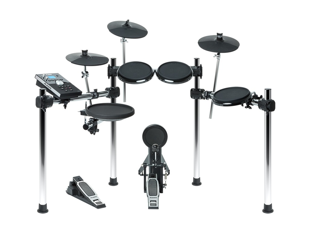 "Elektronisch Drumstel Alesis Forge Kit, 8-piece Drum Kit with Forge Drum Module, 11"" snaredrum, 3 x tom, 3 x 10"" cymbal pads"