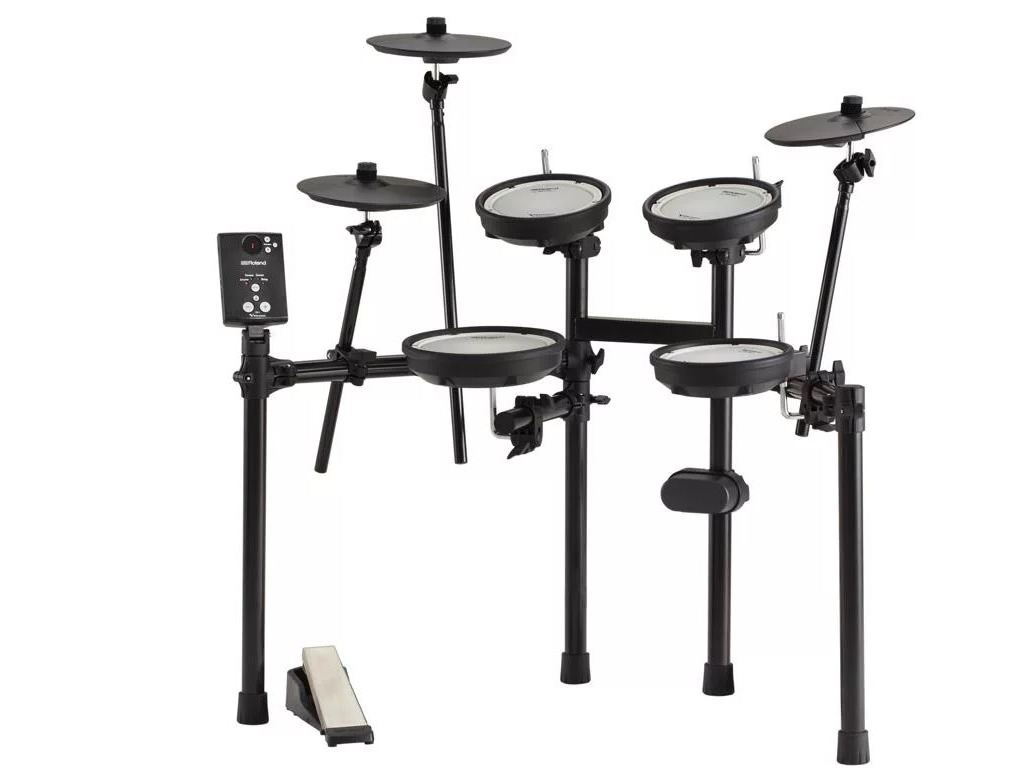 Electronic Drumset Roland TD-1DMK with 15 Drumset sounds, 1 x Snare Drum , 3 x tom, 1x crash, 1 x ride, 1x Hi-hat pad