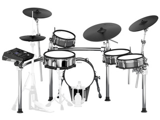 Electronic Drumset Roland TD-50KV, TD-50 Sound Module, Snare, Kick, Ride, Rack Tom, 2x Floor Tom, hihat Stand, Crash, Crash/Ride