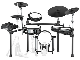 Electronic Drumset Roland TD-50K, TD-50 Sound Module, Snare, Kick, Ride, 3 x Rack/Floor Tom, hihat Stand, Crash, Crash/Ride