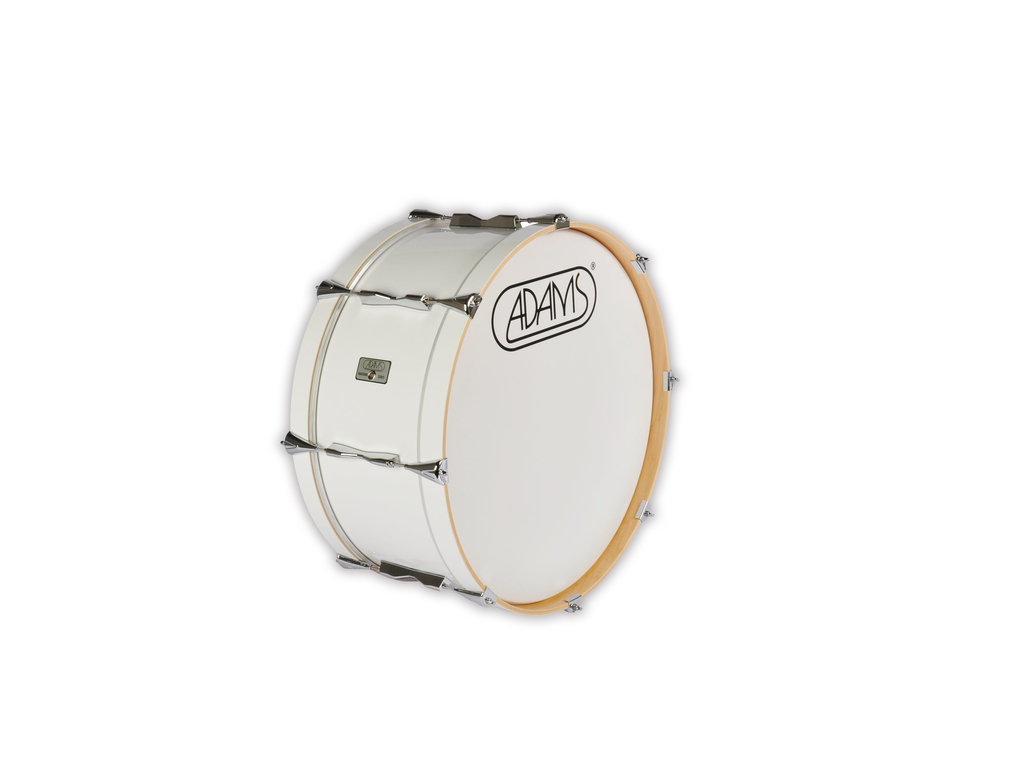 "Bassdrum Adams 2210WWE, 22""x10"" Wood, White Economy Line"