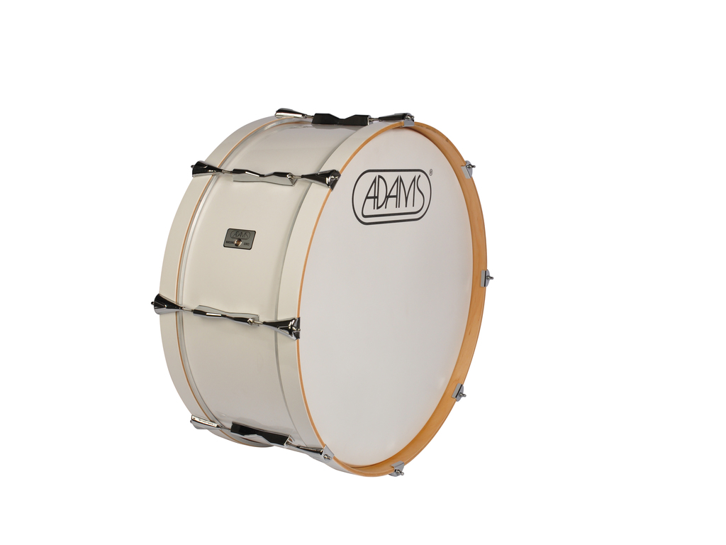 "Bassdrum Adams 2410WWE, 24""x10"" wood, white economy line"