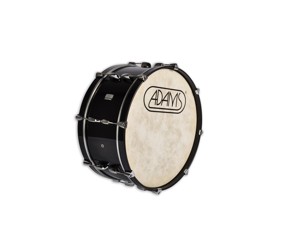 "Bassdrum Adams 2410WBP, 24""x10"" Wood, Black Parade Line"