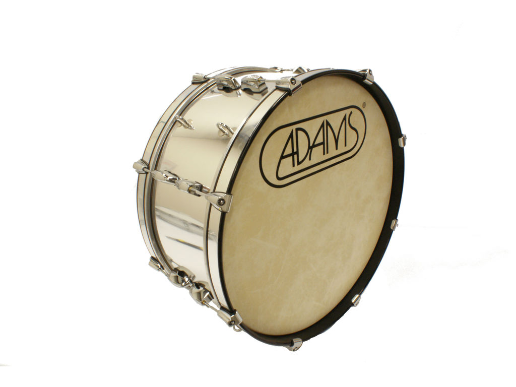 "Bassdrum Adams 2610WCP, 26""x10"" Wood, Chroom Parade Line"