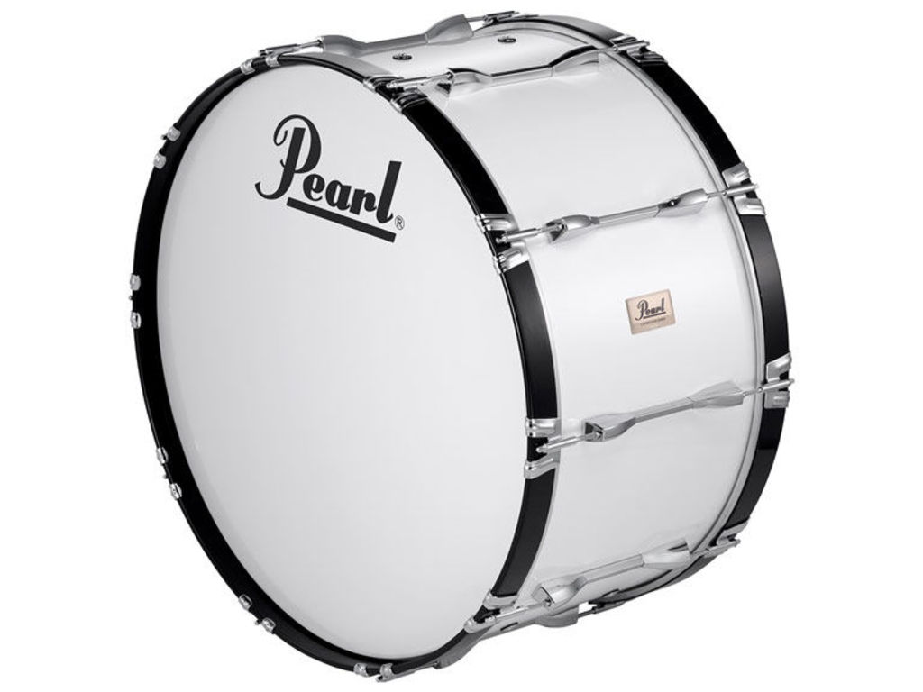 "Marching Bass Drum Pearl CMB1614N/C33, Pearl Competitor Marching, 16"", wit"