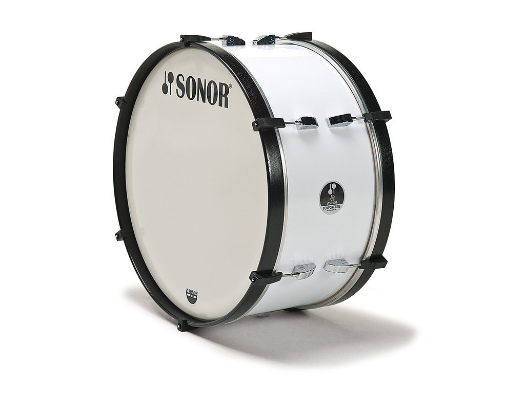 "Bassdrum Sonor Marching MC 2612 CW, comfort line, Wit, 26"" x 12"""