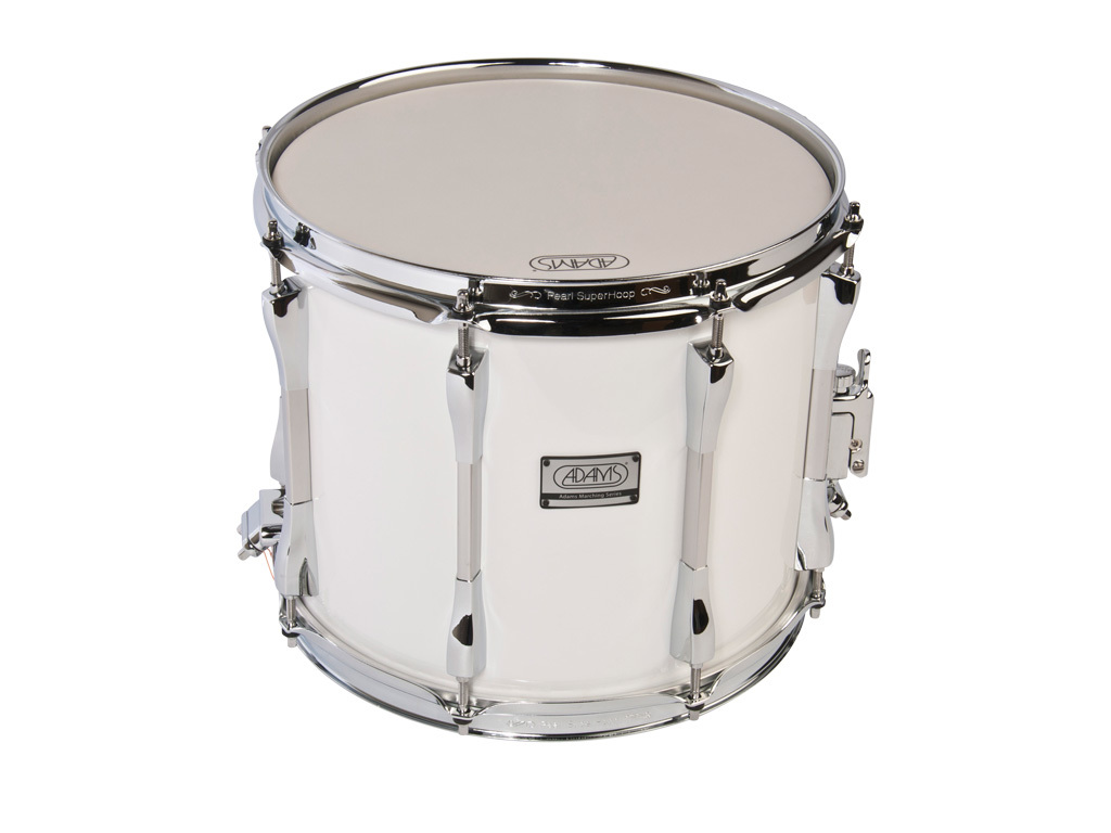 "Snaredrum Adams 1210WWP, 12""x10"", wood, white parade line"