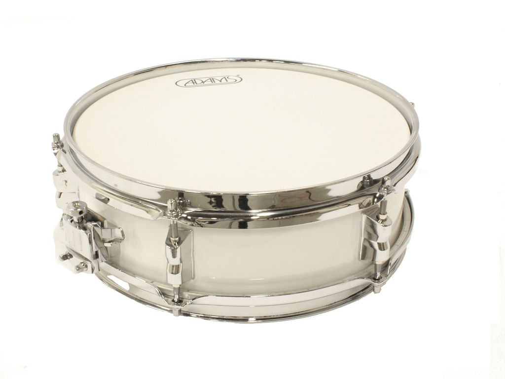 "Snaredrum Adams 1240WWE, 12""x4"", Wood, White Economy Line"