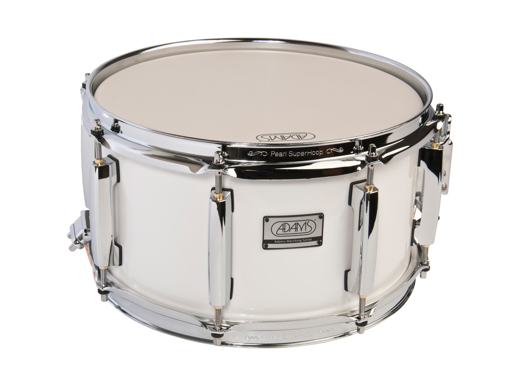 "Snaredrum Adams 1265WWP, 12""x6,5"", wood, white parade line"