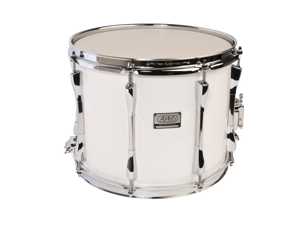 "Snaredrum Adams 1310WWP, 13""x10"", wood, white parade line"