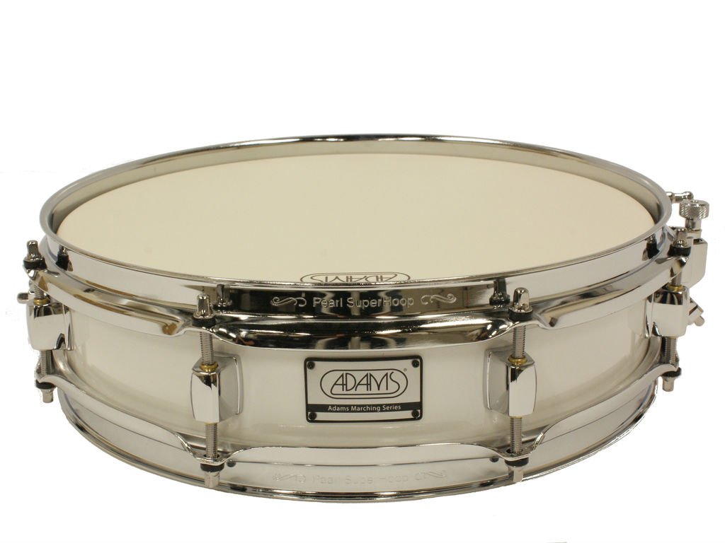 "Snaredrum Adams 1330WWP, 13""x3"", wood, white parade line"