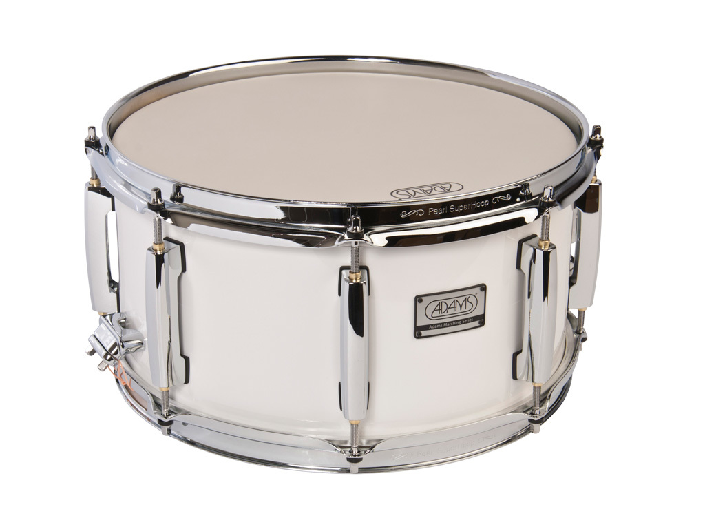"Snaredrum Adams 1365WWP, 13""x6,5"", wood, white parade line"