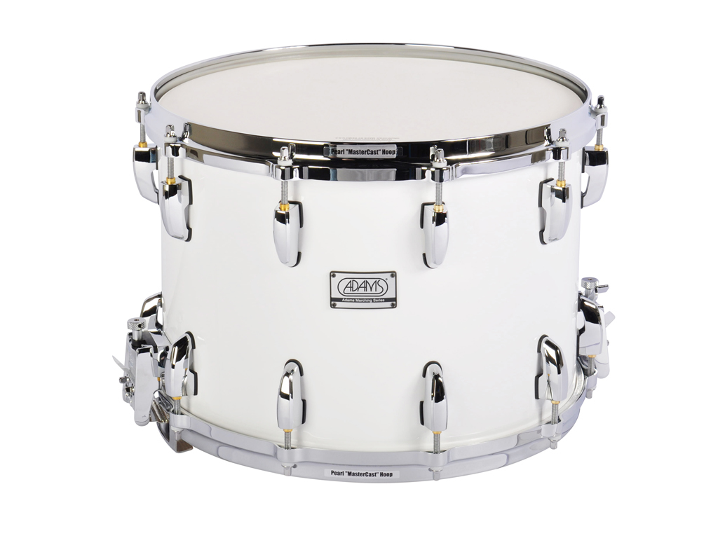 "Snaredrum Adams 1410WWP, 14""x10"", Wood, White Parade Line"