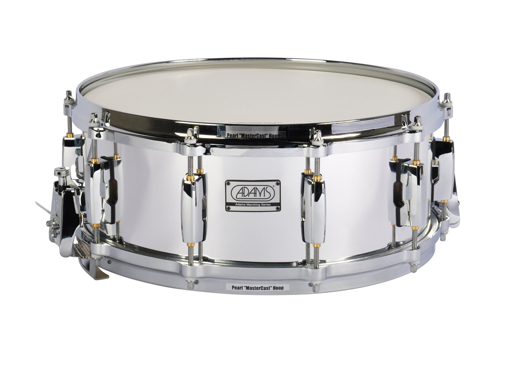 "Snaredrum Adams 1455WCP, 14""x5˝"", Wood, Chroom Parade Line"
