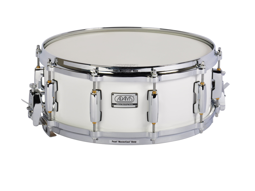 "Snaredrum Adams 1455WWP, 14""x5½"", Wood, White Parade Line"