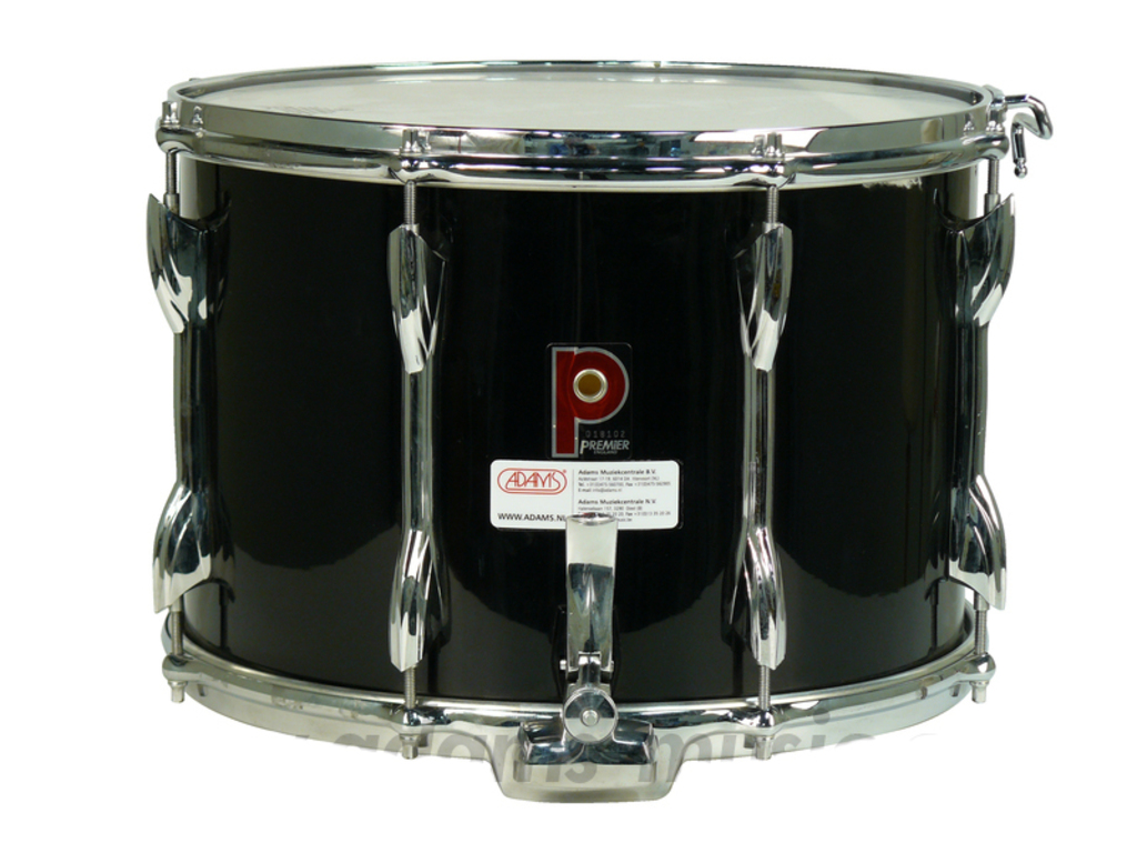"Snaredrum Premier 2074, 14"" x 10"" wood shell with parallel mechaniek, zwart"