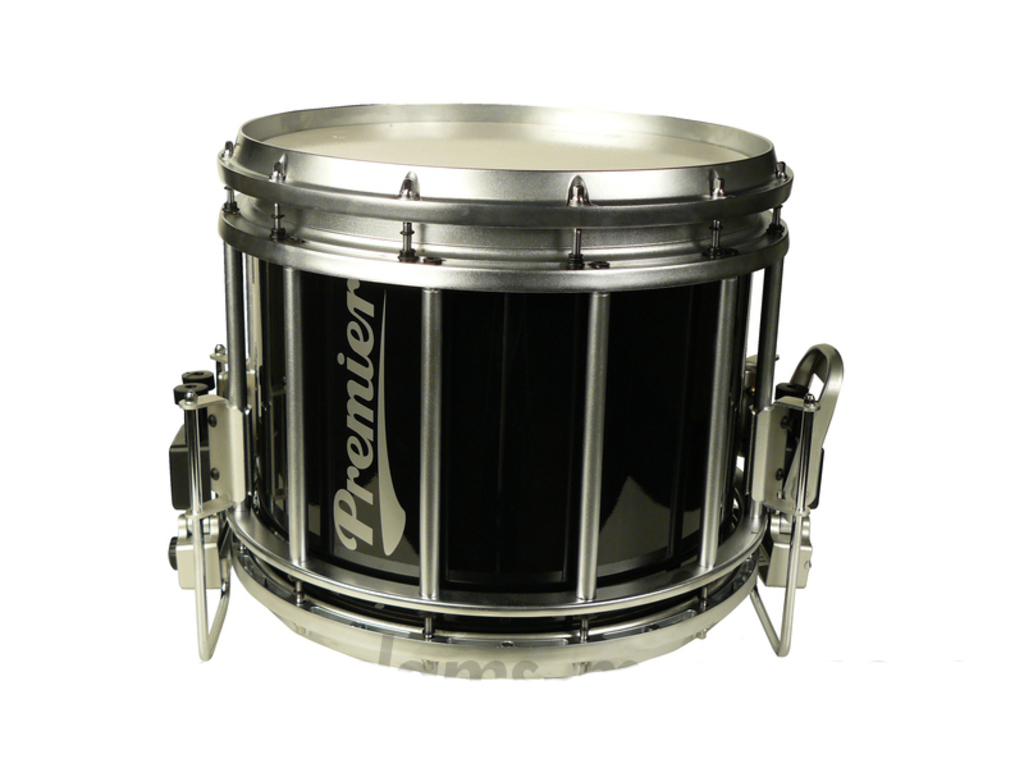"Snaredrum Premier HTS 784, 14"" x 12"", bottom throw-off gut snares, geheel zwart, incl. carryhook 700/08"