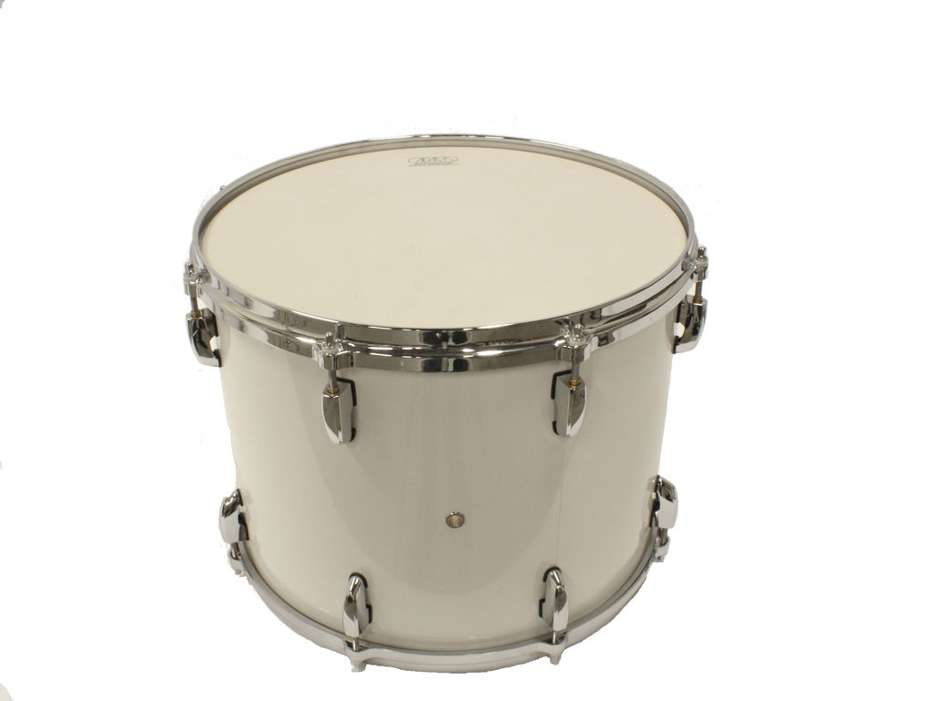 "Tenor drum Adams 1612WWP, 16""x12"", wood, white parade line"