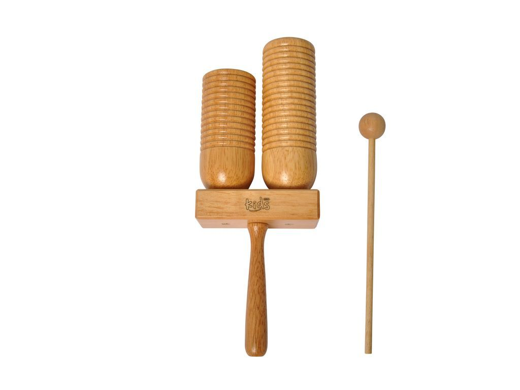 Agogo Bell Adams Kids AW-200L, large, wooden agogo, including mallet