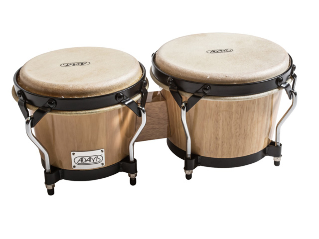 "Bongo Adams STBBN, Supremo Serie, 7"" + 8 1/2"", Zwart coated Hardware, Naturel"