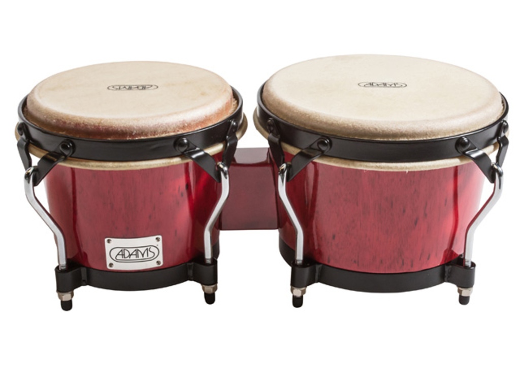 "Bongo Adams STBBR, Supremo series, 7"" + 8 1/2"", Black coated Hardware, Red"