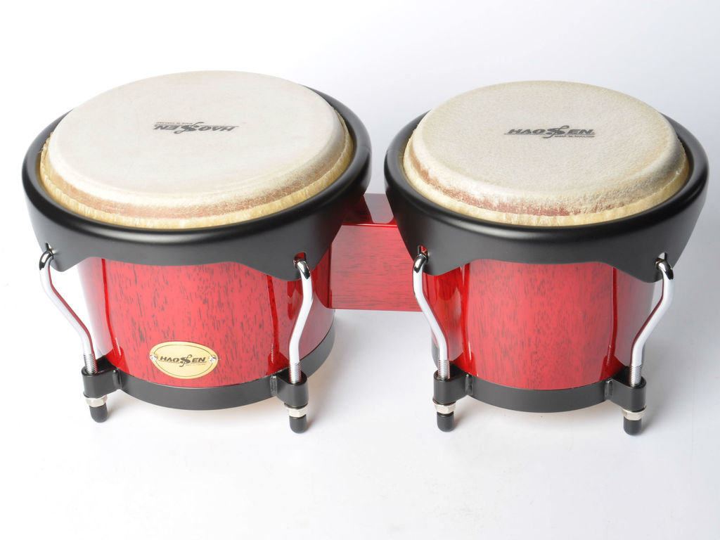 "Bongo Haosen HBC-100R/B, kinder bongo, Black hardware 6"" & 7"", Red Wood"