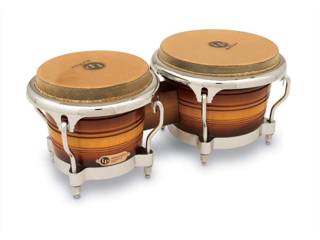 "Bongo LP 201AX-2DW, Generation II Serie, Hout, Grootte 7 1/4""+ 8 5/8"", Traditionale Rims, Chroom Hardware, Wijn Rood"