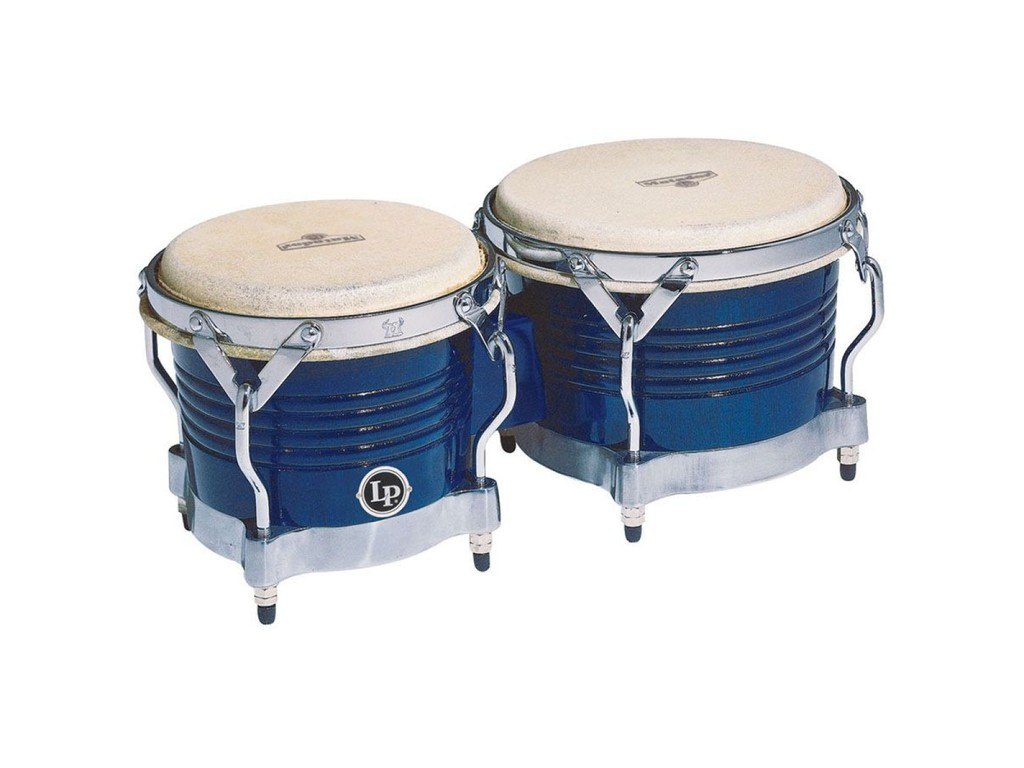 "Bongo LP M201-BLWC, Matador Serie, Hout, Grootte 7 1/4""+ 8 5/8"", Traditionele Rims, Chroom Hardware, Royal Blue"