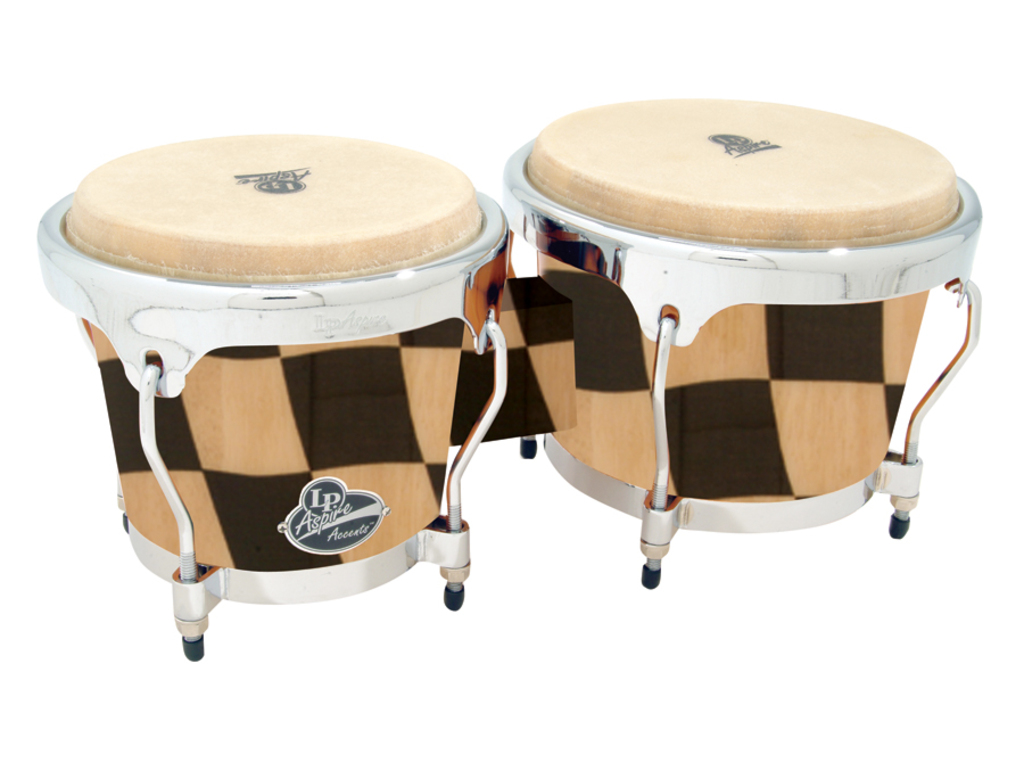 "Bongo LP A601-CHKC, Aspire Serie, Accent Hout, Grootte 6 3/4"" + 8"", Chroom Hardware, Checkboard"