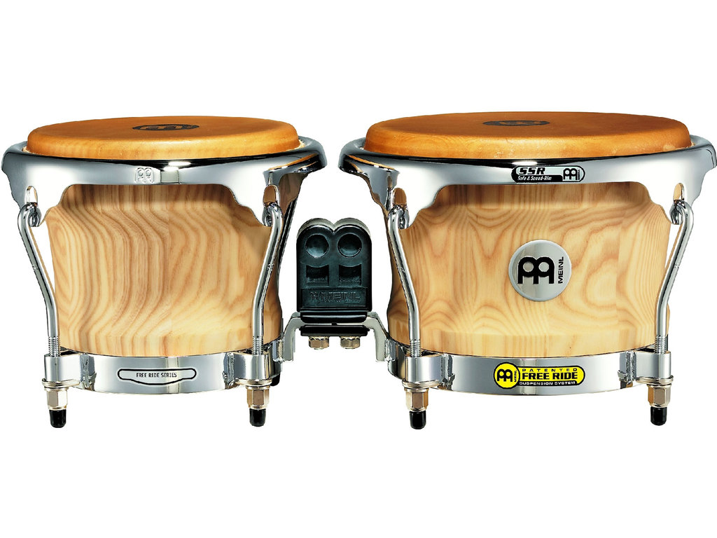 "Bongo Meinl CS400AWA-M, Collection Serie, Siam Eiken Hout, 7""+ 8 1/2"", SSR Rims, Chroom Hardware, Amerikaans Wit As"