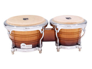"Bongo Toca Percussion 3170NF, Elite Pro, Aziatisch Eiken Hout, 7""+ 8 1/2"", Chroom Hardware, Naturel Maple Fade"