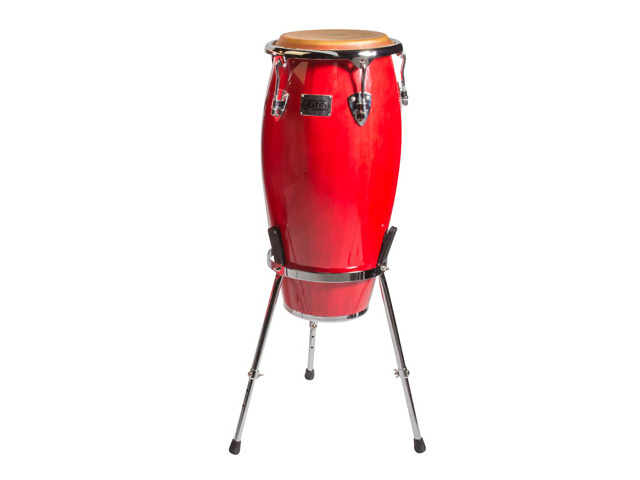 "Conga Adams MTC-120 C R/S, Master Classic Series, Conga, 11 3/4"", Red, Rood, met basket stand"